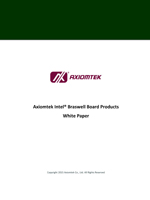 Axiomtek's Embedded Boards and System-on-Modules with Intel® Braswell Platform