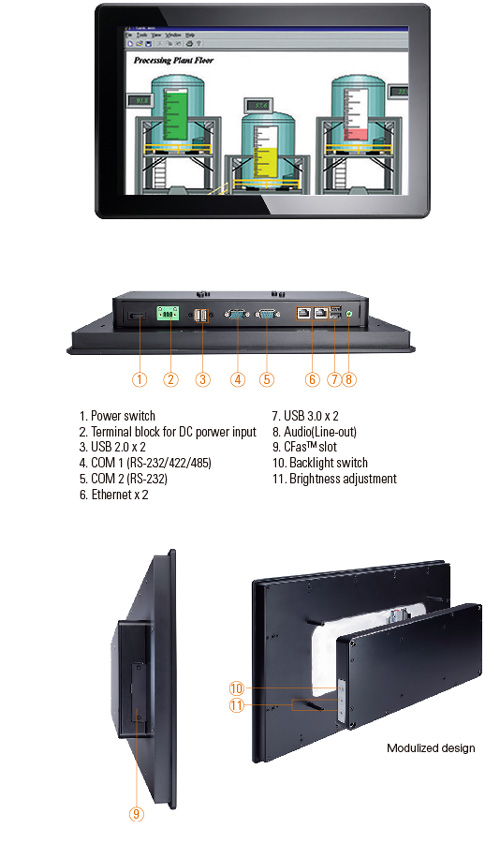 AxiomtekIntroducesitsHardened18.5-inchIP65-ratedIndustrialFanlessMulti-TouchPanelComputer,theGOT3187W-834-PCT