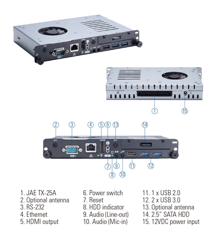 OPS500-501-H OPS Digital Signage Player