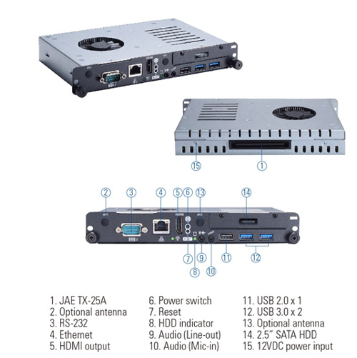 OPS500-501 OPS Digital Signage Player